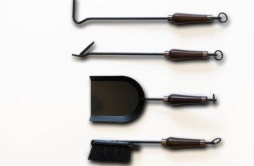 Fire tool set Mahogany