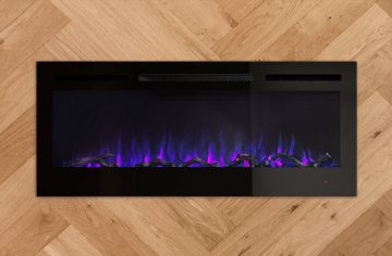 VisionLINE Linear showing blue flames
