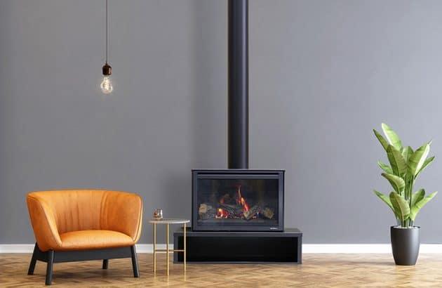 Heat n Glo i30X Freestanding Linear Base